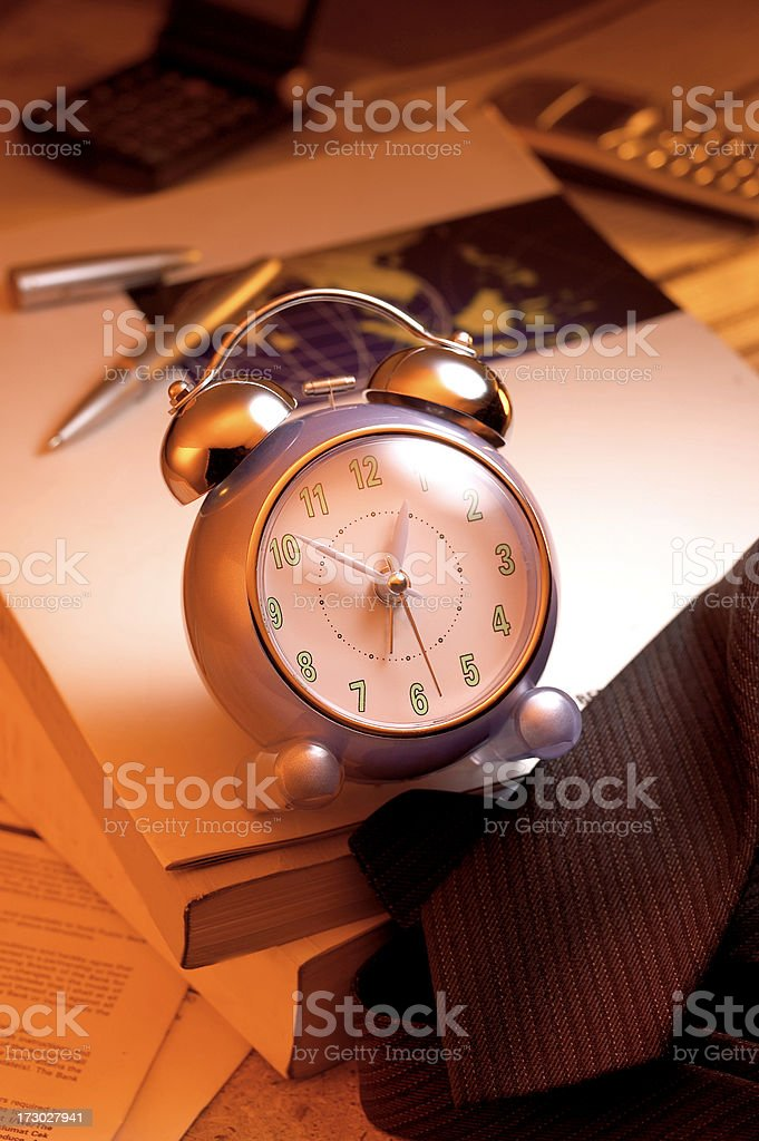 Time Management-Alarm Clock royalty-free stock photo