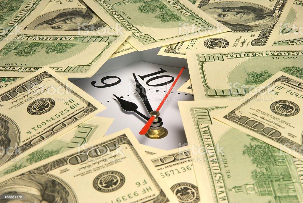 Time - money, dollars... royalty-free stock photo