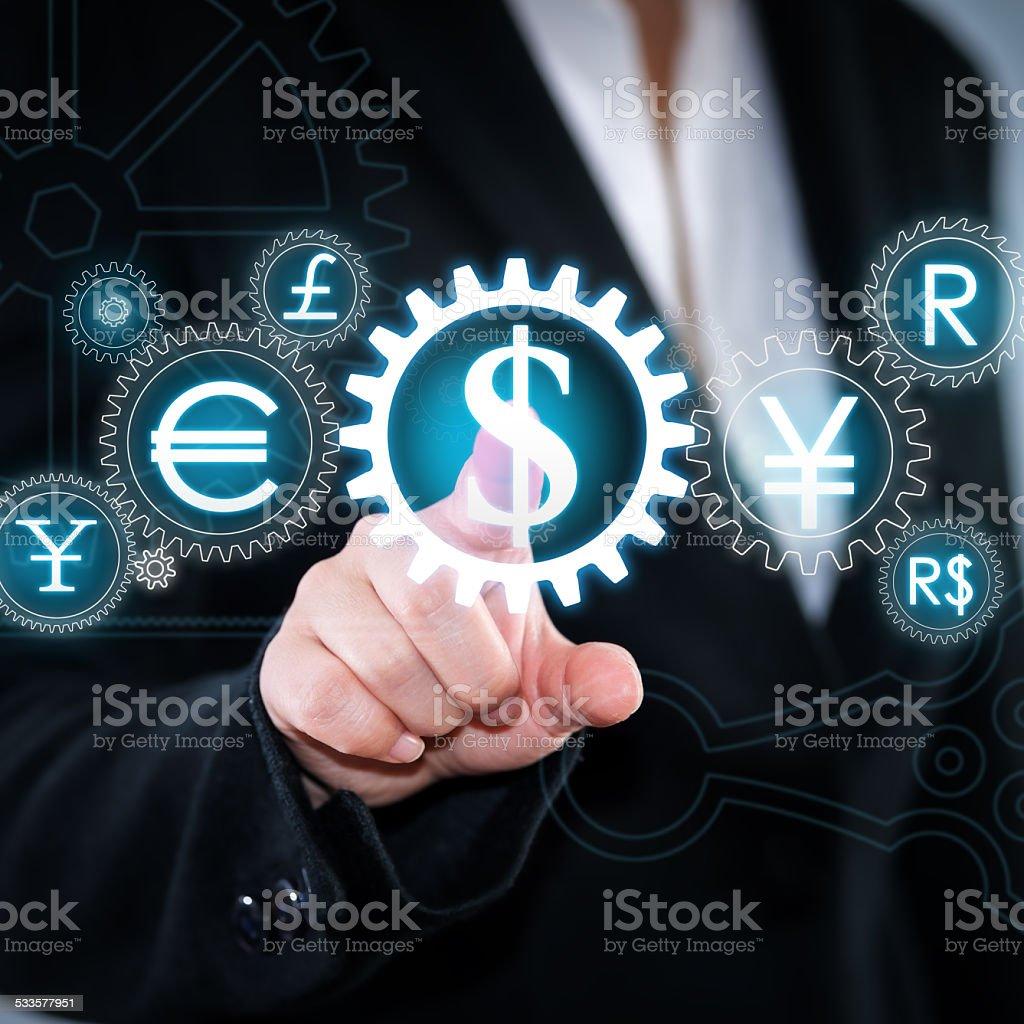 Time - Money. Fantasy clockwork stock photo