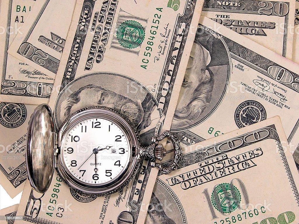 Time & money royalty-free stock photo