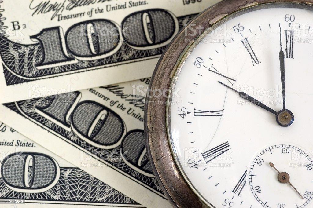 time - money stock photo