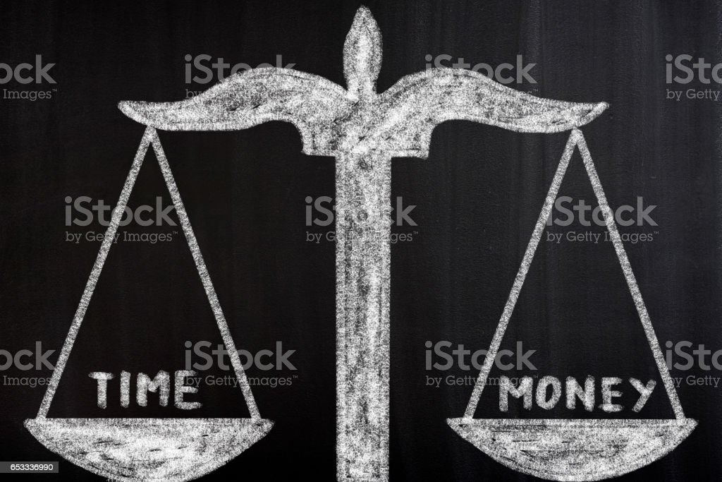 Time Money Scale Concept stock photo