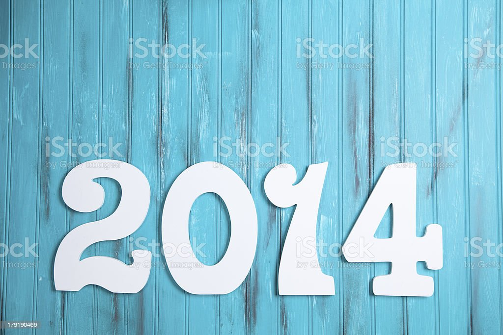 Time:  New Year 2014. royalty-free stock photo