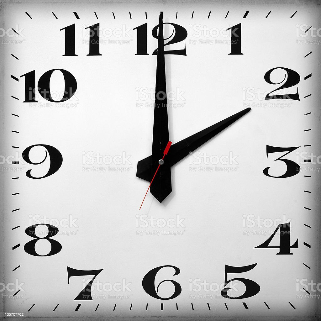 Time of Day, 2 O'clock stock photo
