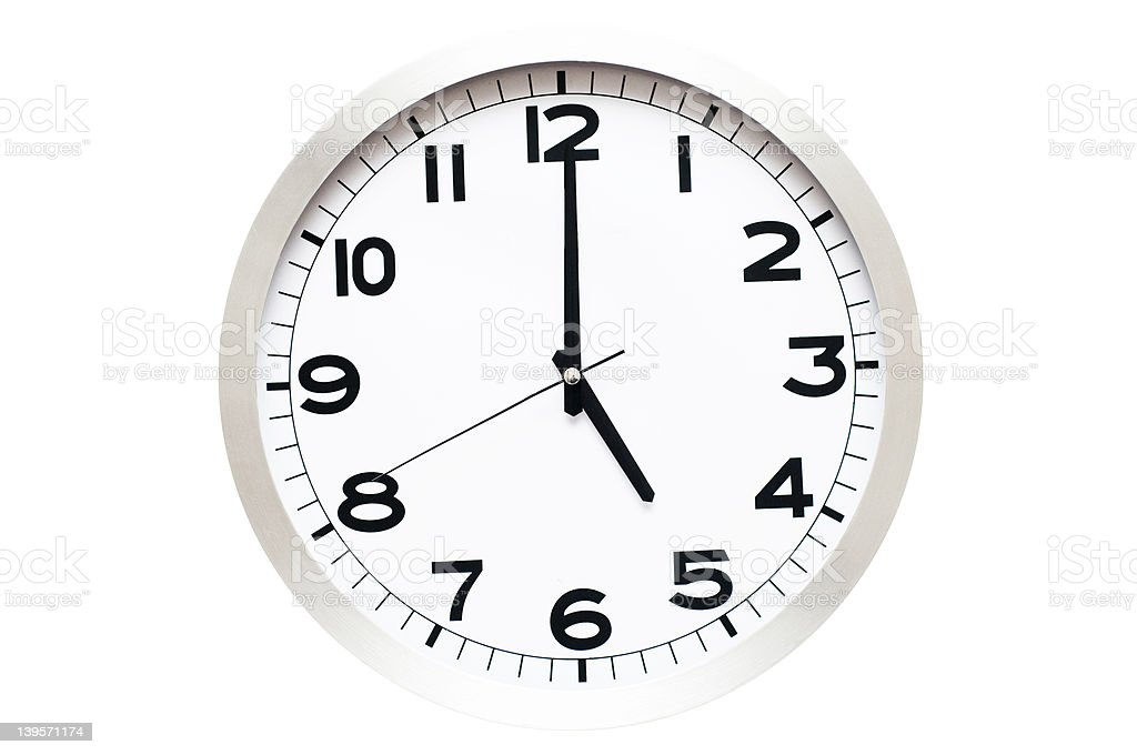 Time of Day, 5 O'clock stock photo