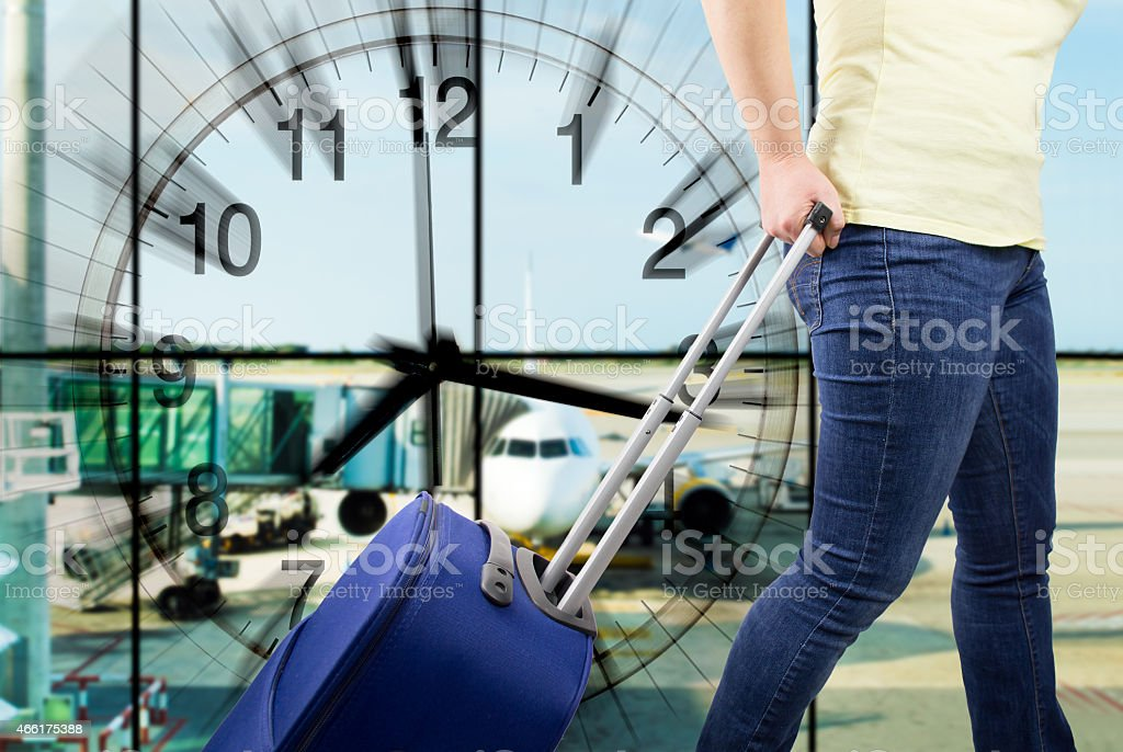 Time of shipment stock photo