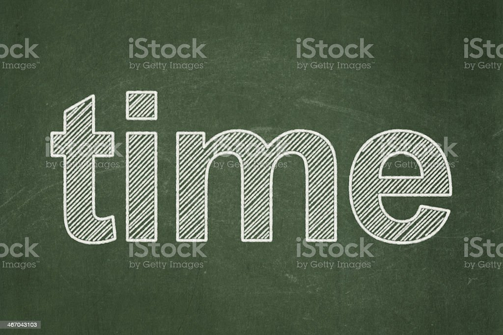Time On Chalkboard Background Royalty Free Stock Photo