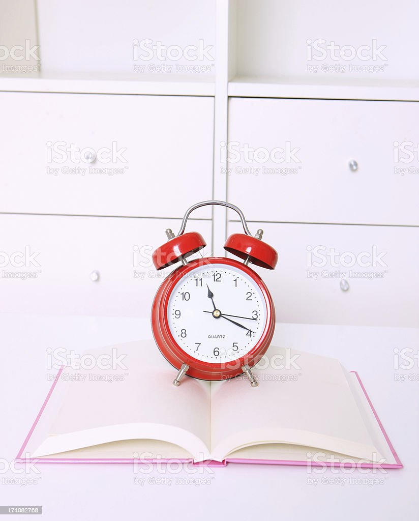 Time On Clock royalty-free stock photo
