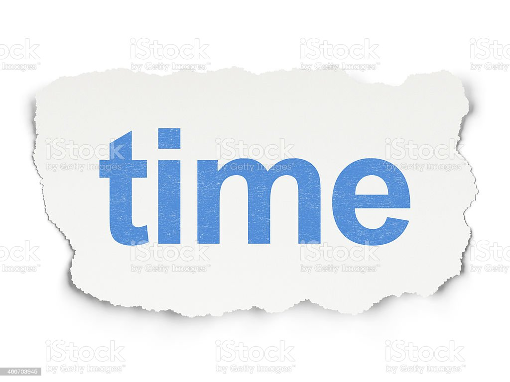 Time on Paper background royalty-free stock photo