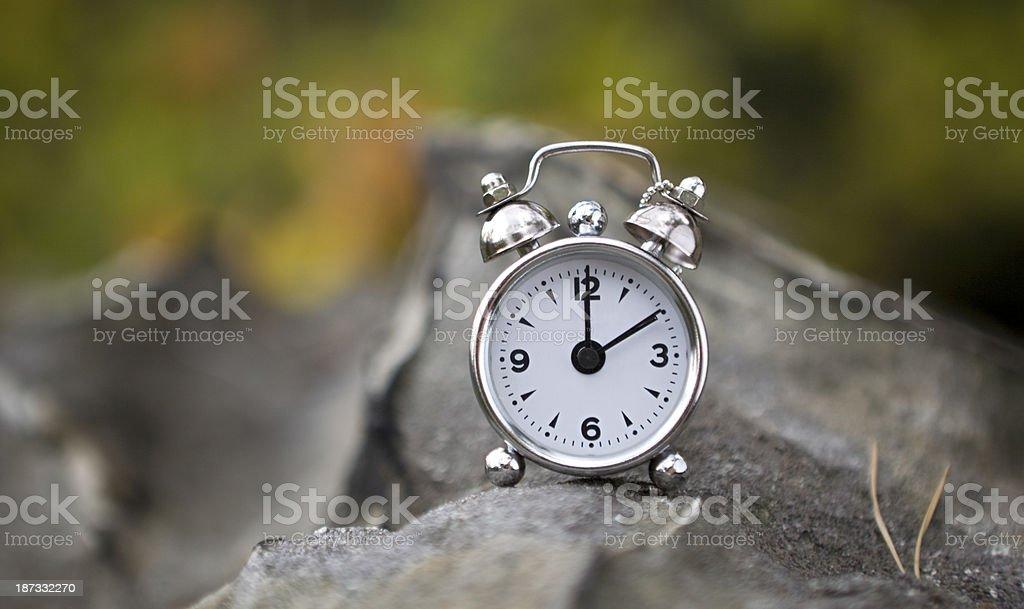 Time on stone royalty-free stock photo
