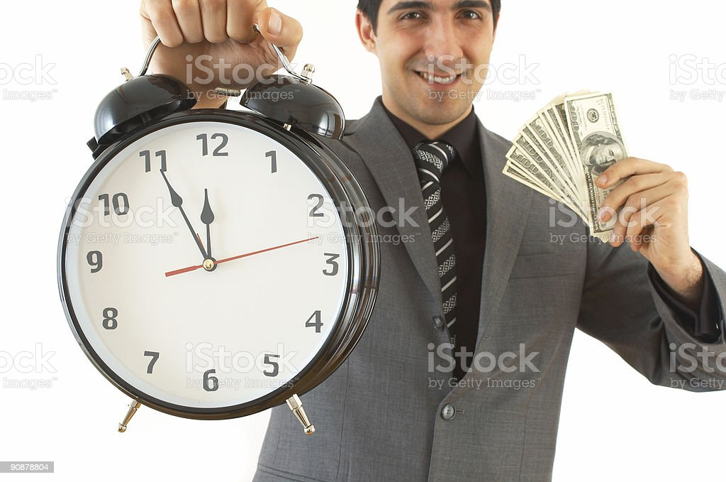 time or money royalty-free stock photo
