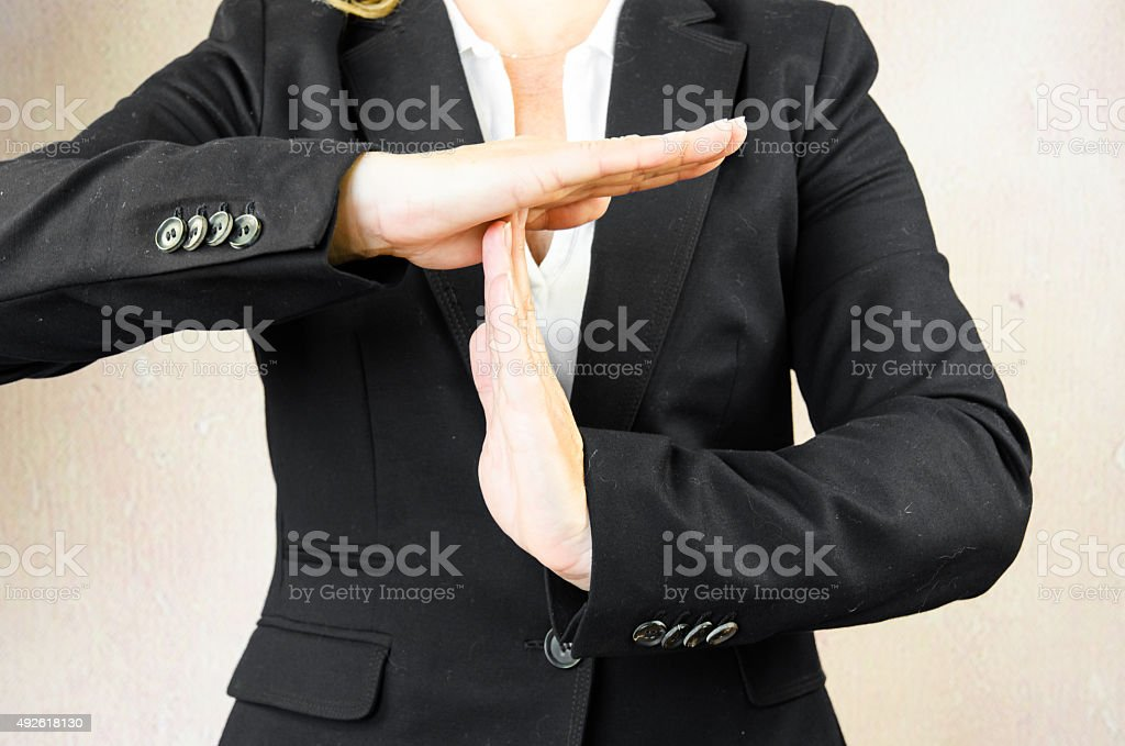 time out gesture stock photo