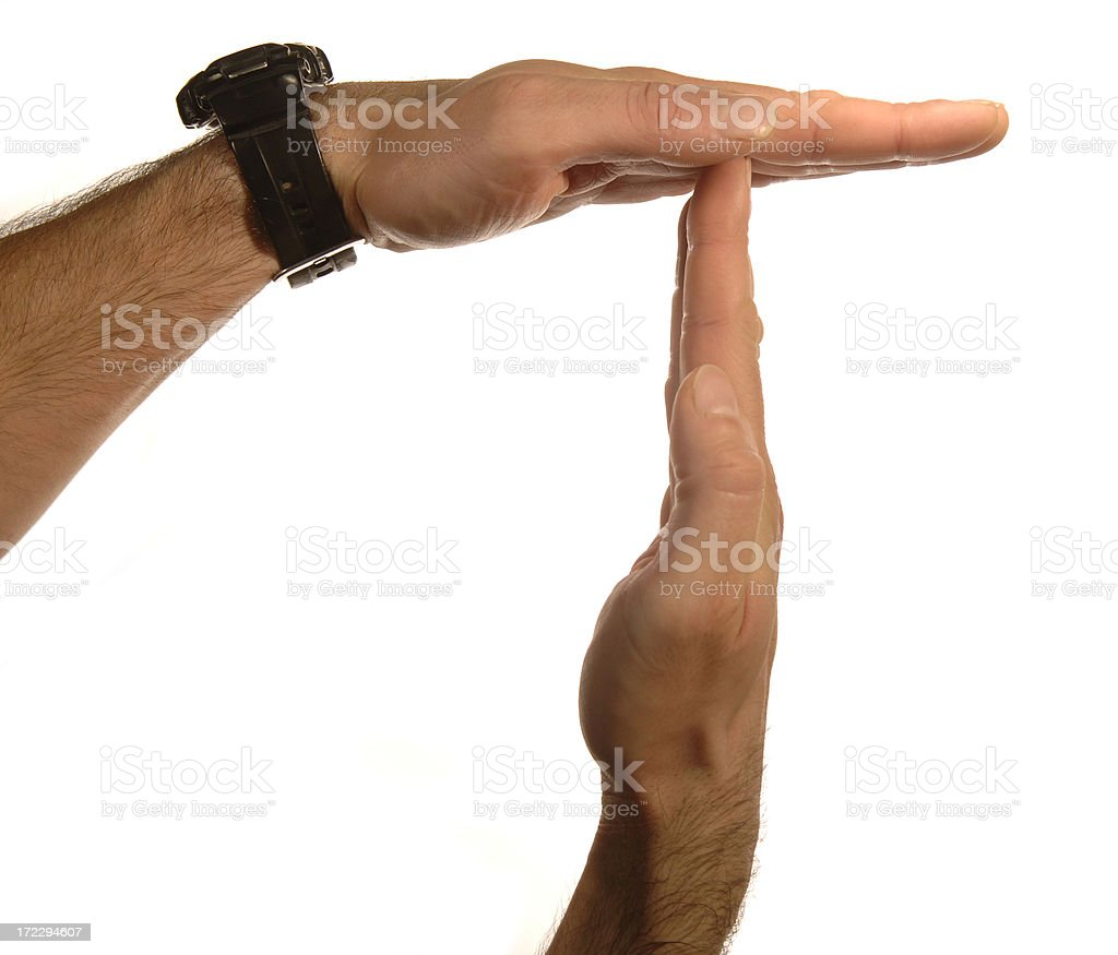 time out hand sign royalty-free stock photo