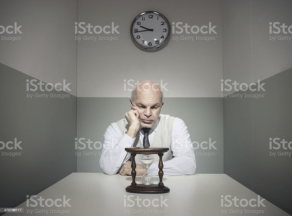 Time passes slowly stock photo