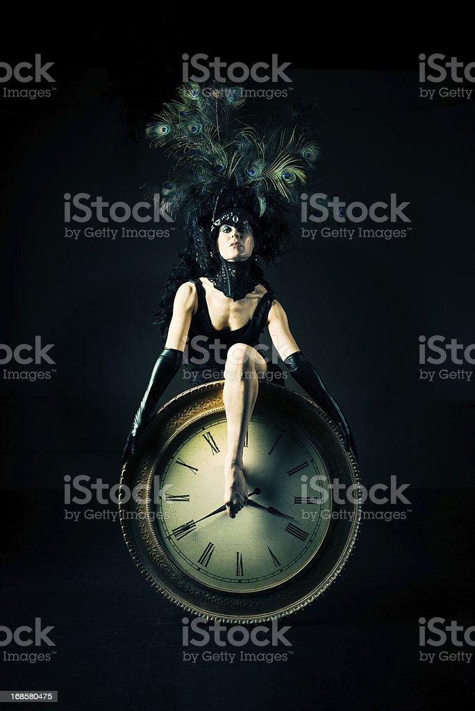 Time Performance Art Portrait stock photo