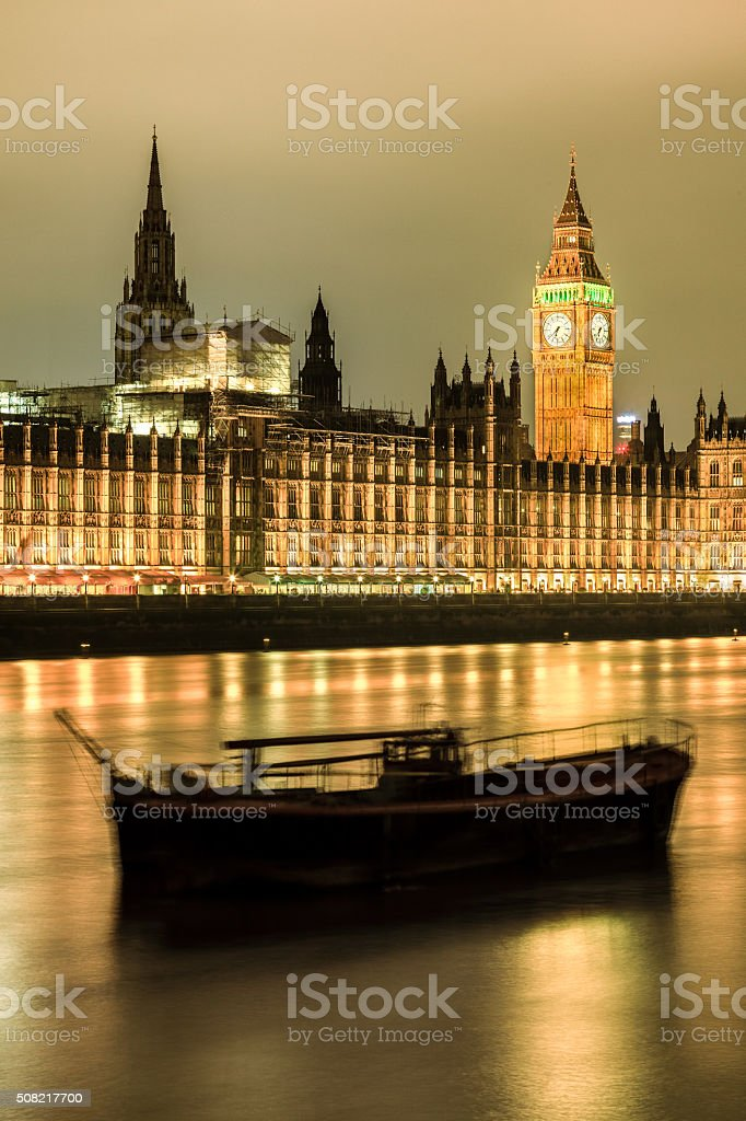 Time(Houses of Parliament, UK) stock photo