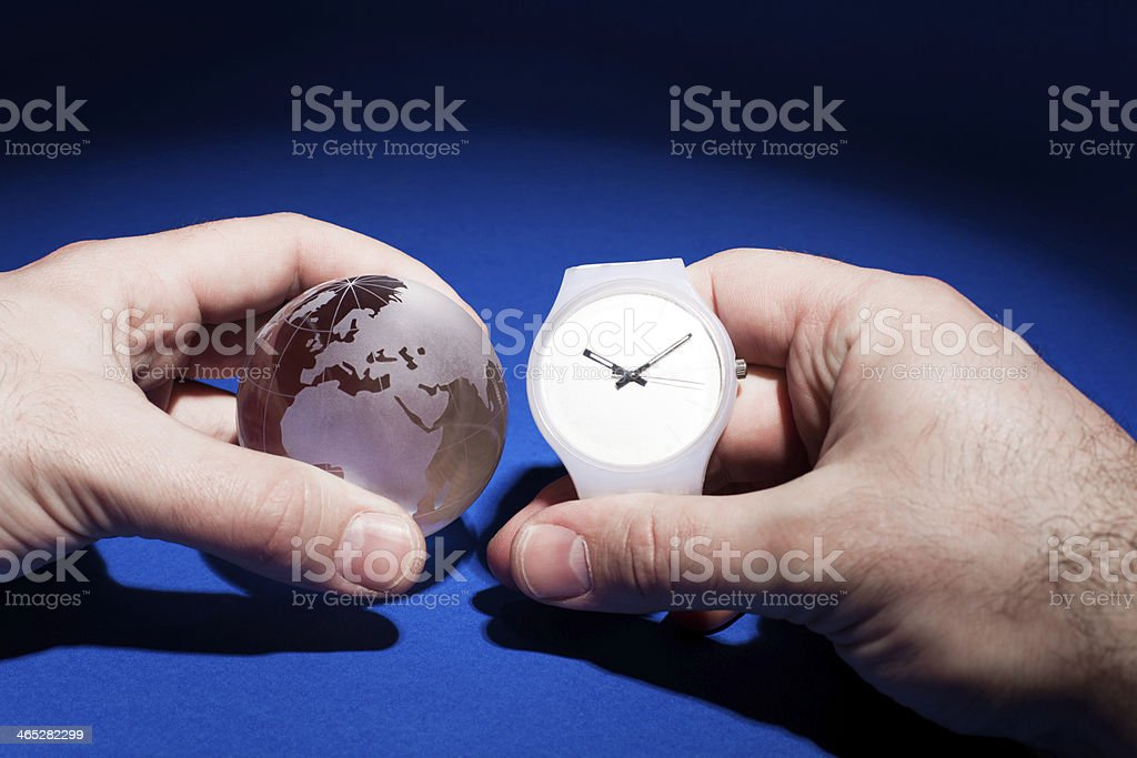 Time round the Earth royalty-free stock photo
