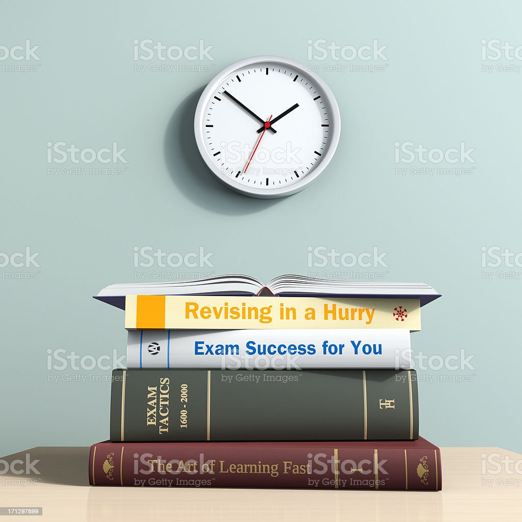Time Running Out for Revising stock photo