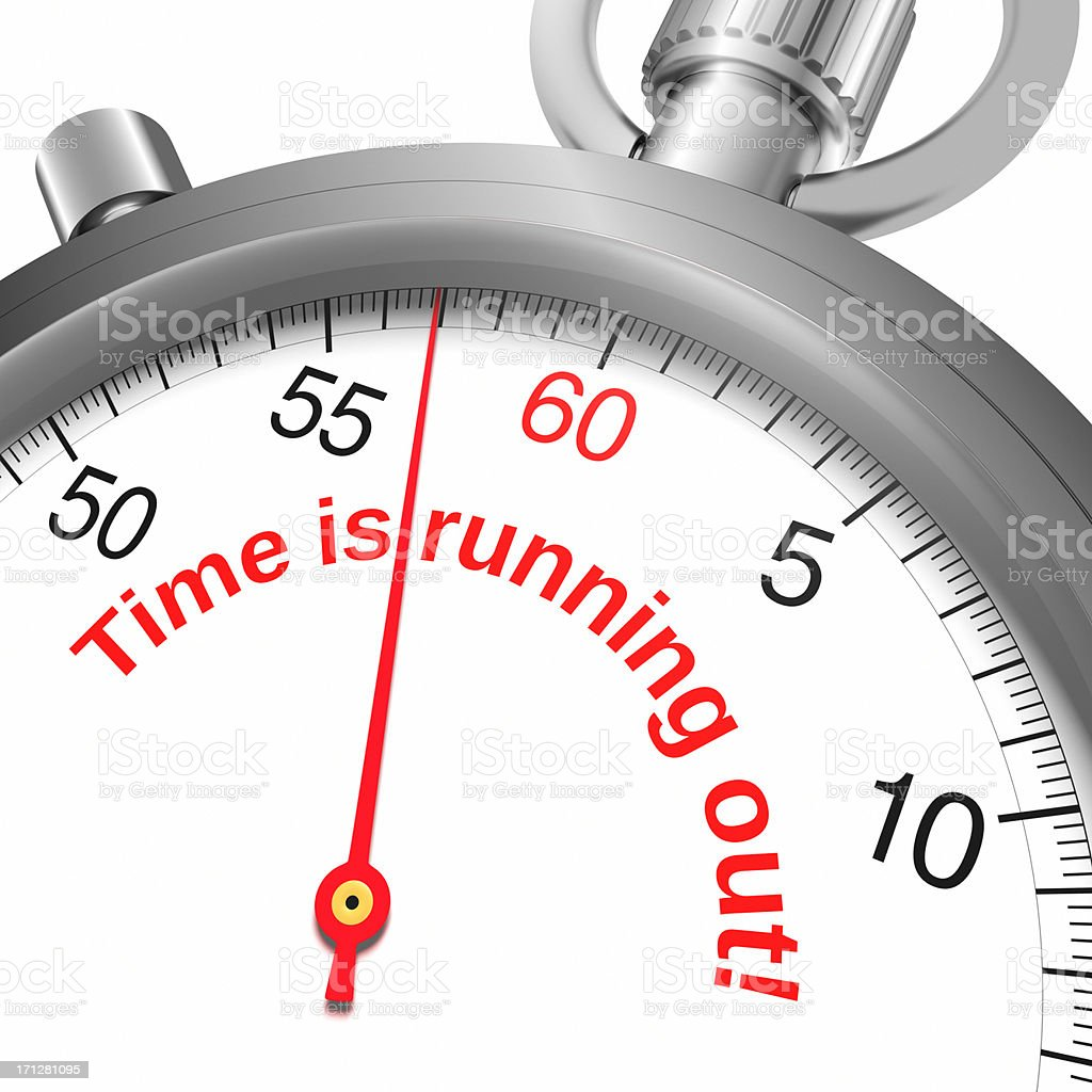 Time Running Out XL royalty-free stock photo