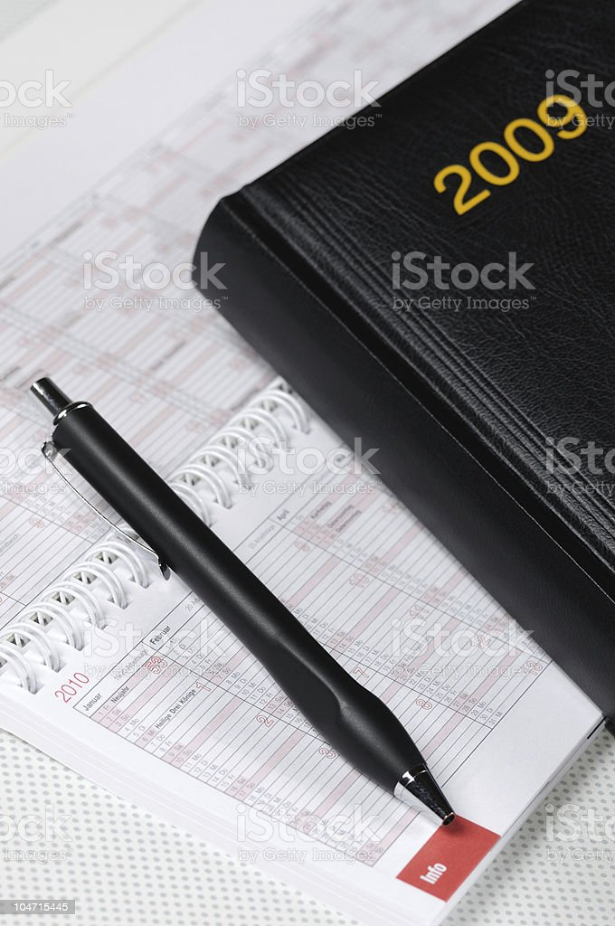 Time Scheduling for 2009 stock photo