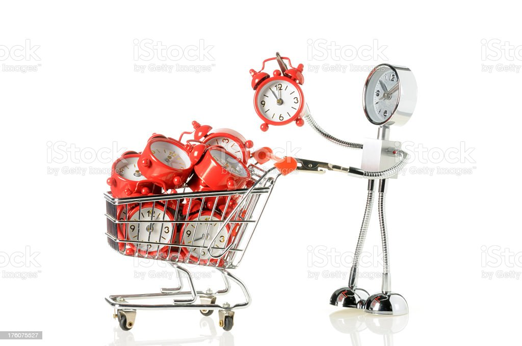 Time Shopping royalty-free stock photo
