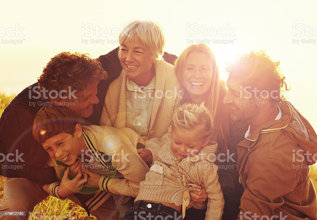 Time spent with family is worth every second stock photo