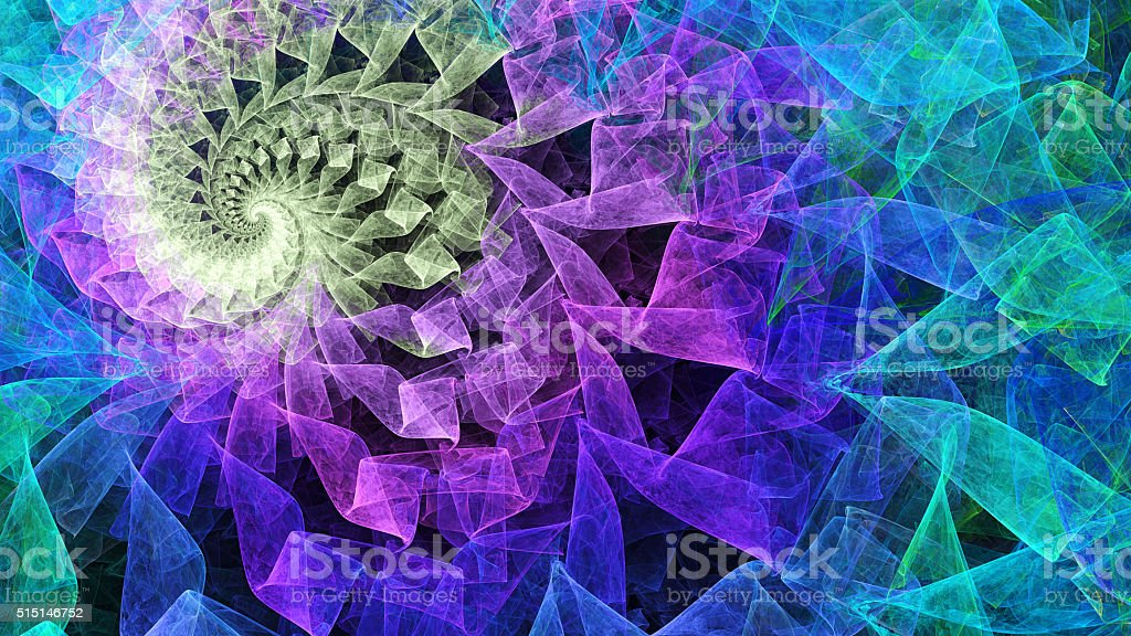 Time Spiral. Kaleidoscope of consciousness. stock photo