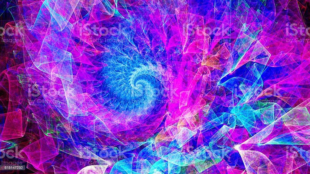 Time Spiral. Kaleidoscope of consciousness. stock photo