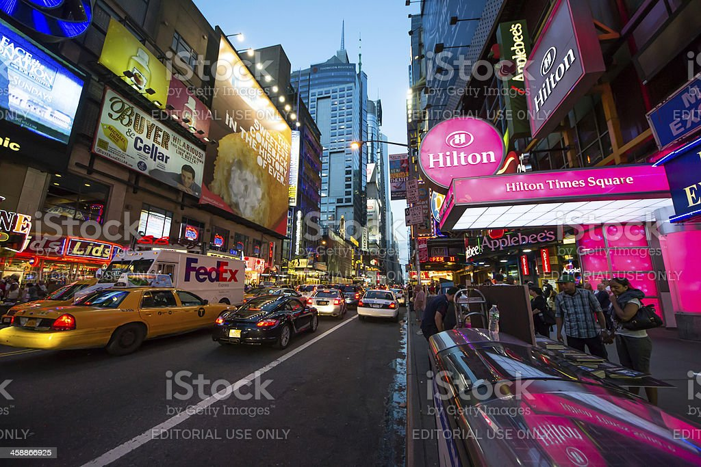 time square at night royalty-free stock photo
