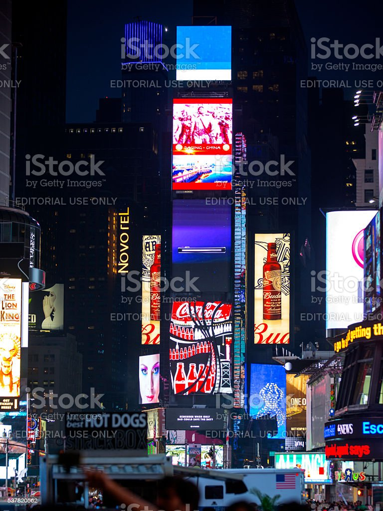 Time Square Billboards stock photo
