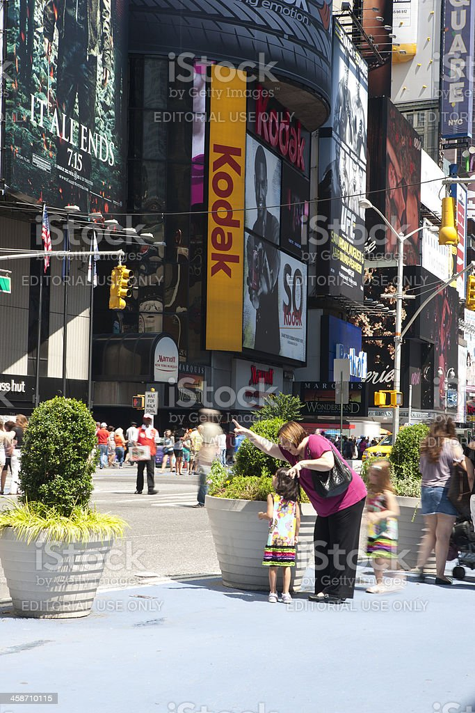 Time Square royalty-free stock photo