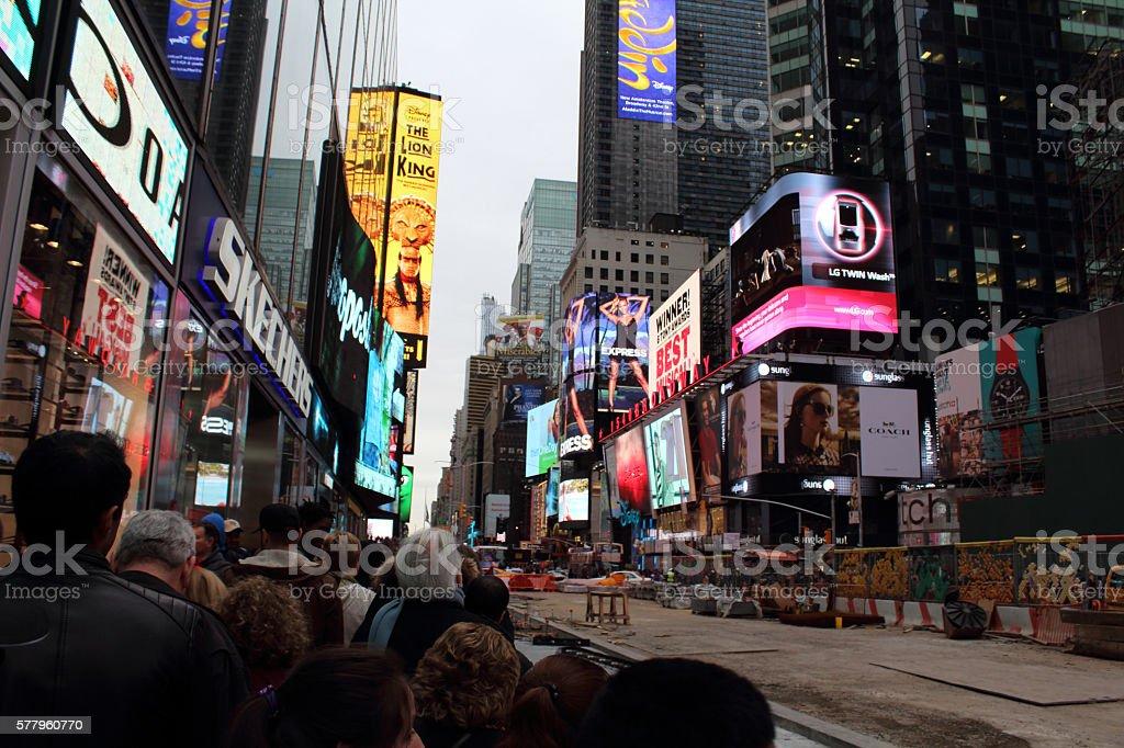 Time Square stock photo
