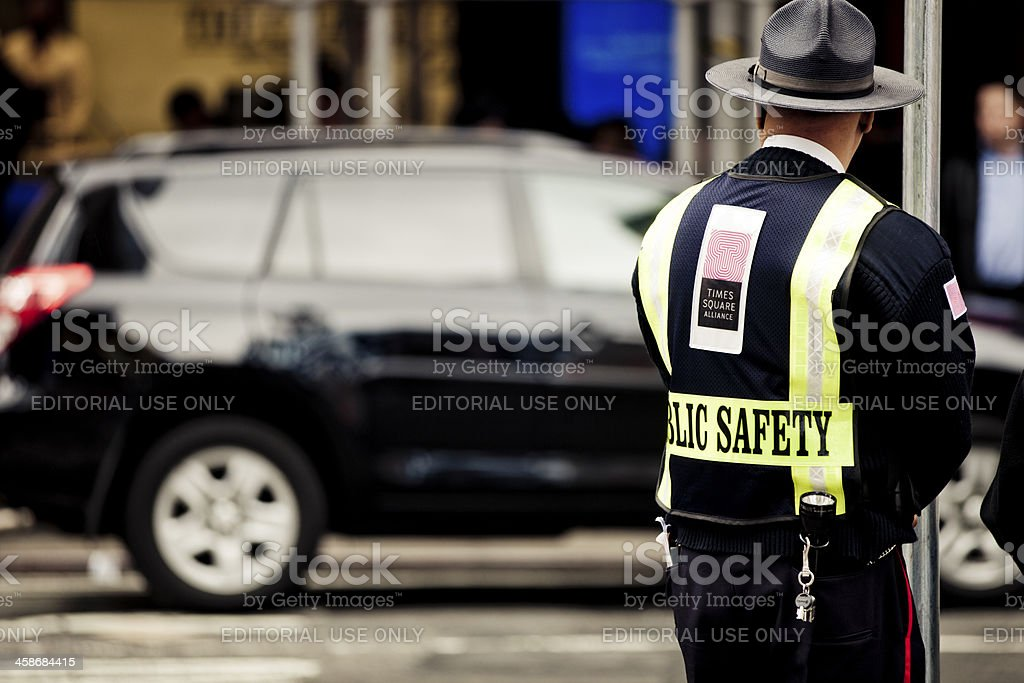Time Square Security royalty-free stock photo
