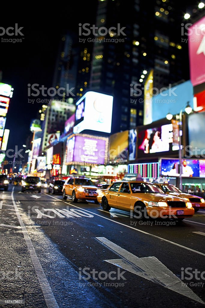 Time Square traffic royalty-free stock photo