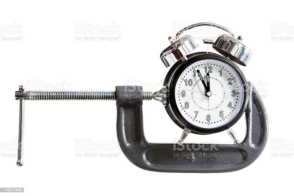 Time squeeze royalty-free stock photo