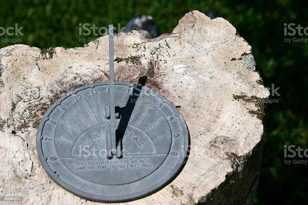 Time. Sundial stock photo