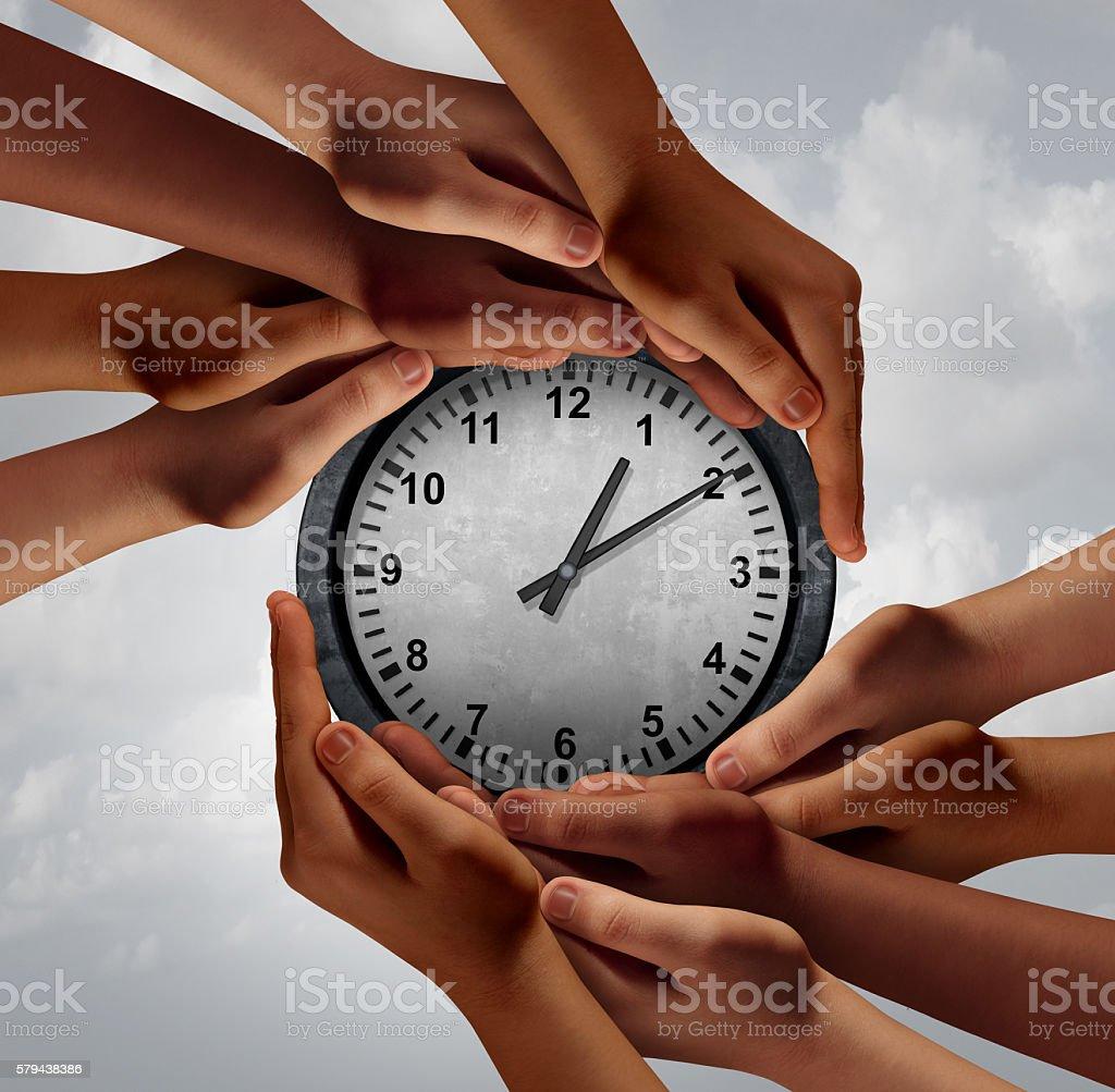 Time Teamwork Concept stock photo
