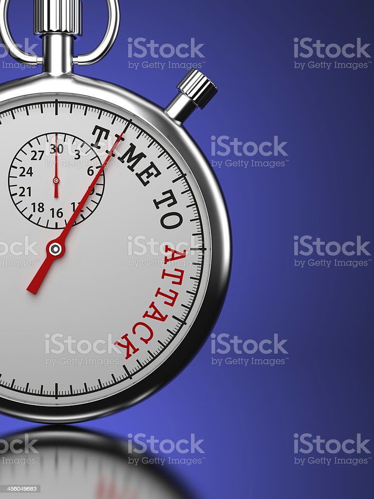 Time To Attack Concept. royalty-free stock photo