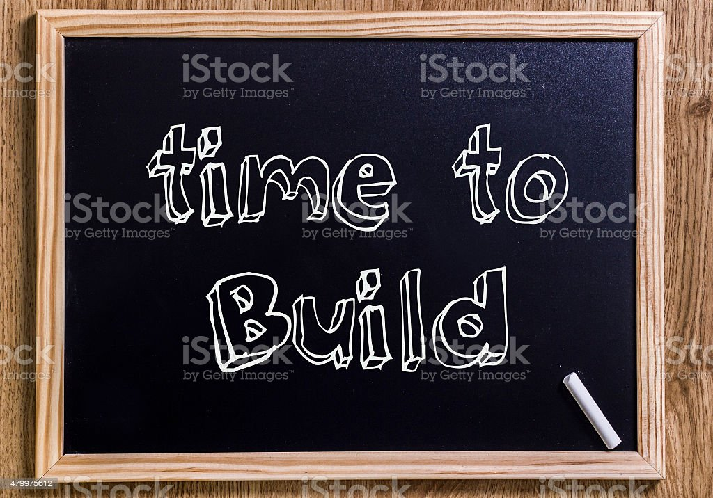 Time to build stock photo
