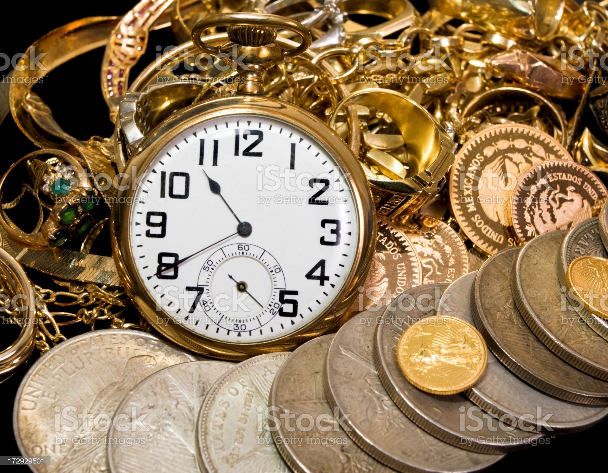 Time to Buy Gold royalty-free stock photo
