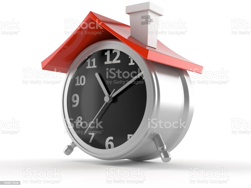 Time to buy house royalty-free stock photo