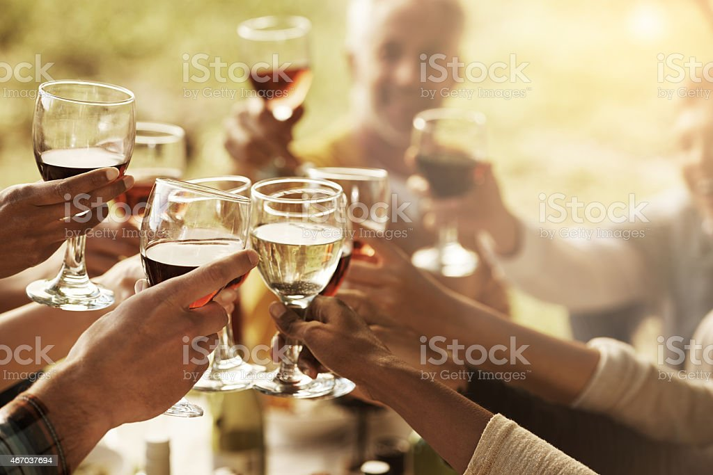 Time to celebrate stock photo