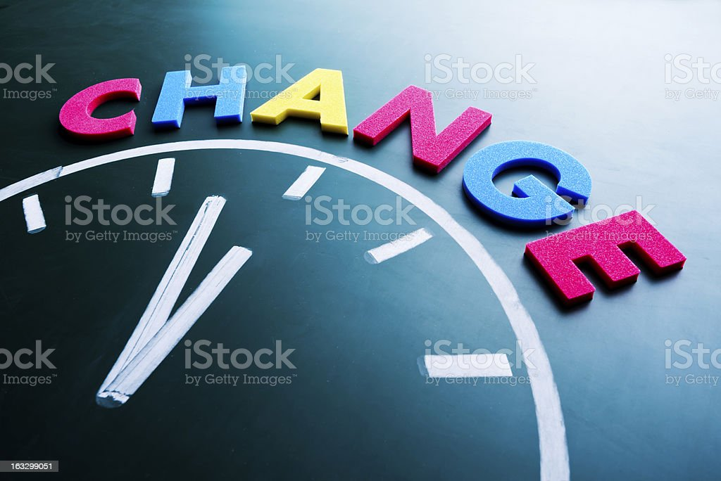 Time to change concept royalty-free stock photo