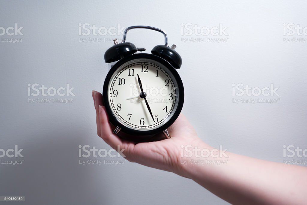 Time to change or Do not waste your time. stock photo