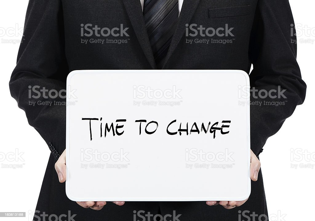 Time to change royalty-free stock photo