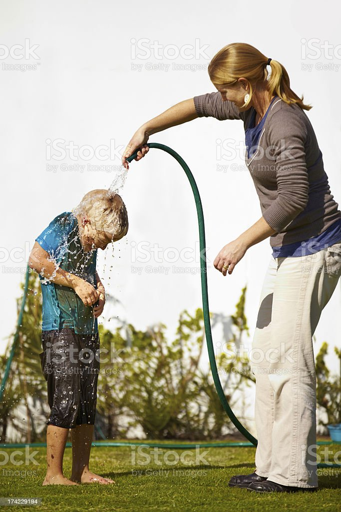 Time to clean off some of that dirt.... royalty-free stock photo