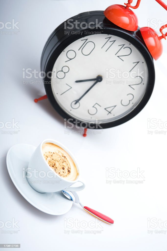 time to coffee royalty-free stock photo