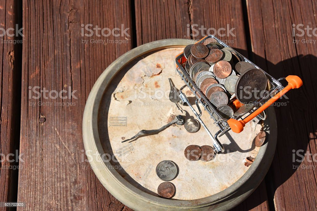 Time to do some shopping Concept stock photo