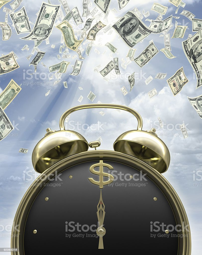 Time to earn money stock photo