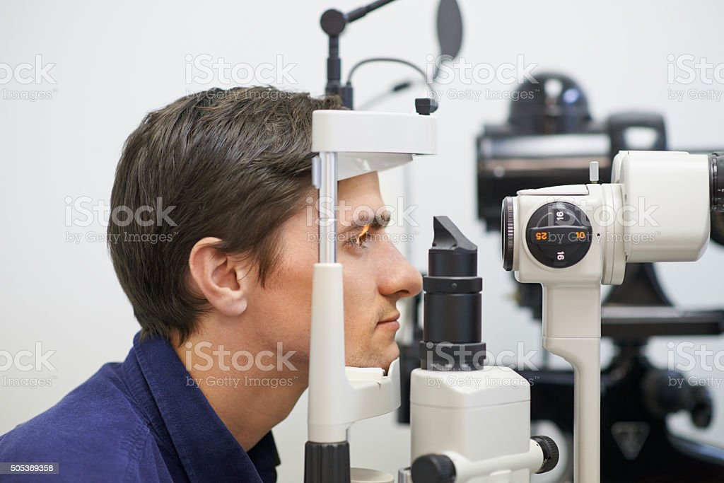 Time to focus on the health of your eyes stock photo